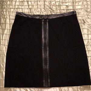Joe Fresh Black Mini Skirt w/Faux Leather Accents
